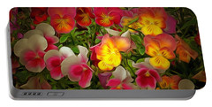 Radiance Pansies Portable Battery Charger