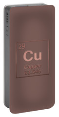 Periodic Table Of Elements - Copper - Cu - Copper On Copper Portable Battery Charger