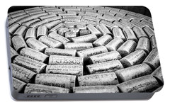 Portable Battery Charger featuring the photograph Perissos Vineyard Wine Corks by Andy Crawford