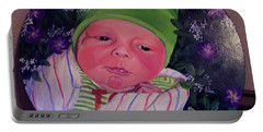 Periwinkle Baby Boy Portable Battery Charger by Ruanna Sion Shadd a'Dann'l Yoder
