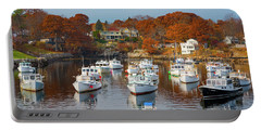 Portable Battery Charger featuring the photograph Perkins Cove by Darren White