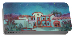 Portable Battery Charger featuring the painting Perseids Meteor Shower From La Quinta Museum by Diane McClary