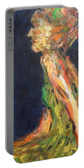 Portable Battery Charger featuring the painting Persephone Queen Of The Underworld by Esther Newman-Cohen