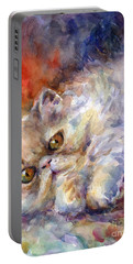 Persian Cat Painting Portable Battery Charger