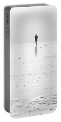 Person Running On Beach Portable Battery Charger