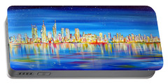 Perth Skyline On The Swan Portable Battery Charger