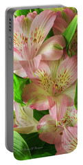 Peruvian Lilies In Bloom Portable Battery Charger