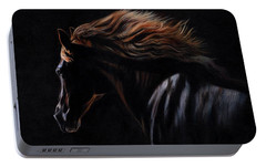 Portable Battery Charger featuring the painting Peruvian Paso Horse by David Stribbling