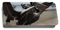 Portable Battery Charger featuring the photograph Peruvian Pelicans by Aidan Moran