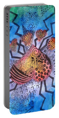 Portable Battery Charger featuring the painting Pet Love by Thomasina Durkay