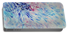 Portable Battery Charger featuring the painting Petals And Ice by Joanne Smoley