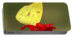 Portable Battery Charger featuring the photograph Petals And Wings by Sheila Brown