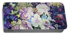 Portable Battery Charger featuring the painting Petals by Joanne Smoley