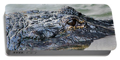 Pete The Alligator Portable Battery Charger by Kenneth Albin