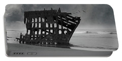 Peter Iredale Shipwreck At Oregon Coast Portable Battery Charger