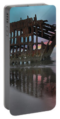 Peter Iredale Shipwreck At Sunrise Portable Battery Charger
