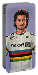 Peter Sagan Painting Portable Battery Charger by Paul Meijering