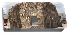 Petrified Wood Building Portable Battery Charger