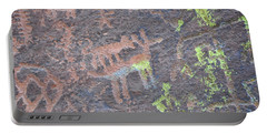 Petroglyph Wolf Attack Portable Battery Charger