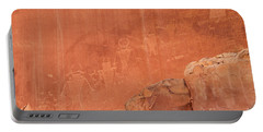 Petroglyphs In Capital Reef Portable Battery Charger