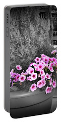 Portable Battery Charger featuring the photograph Petunias In Brooklyn Circa 2006 by Iowan Stone-Flowers