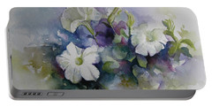 Petunias In Summer Portable Battery Charger by Elena Oleniuc