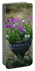 Petunias In The Chico Portable Battery Charger