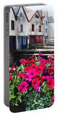 Portable Battery Charger featuring the photograph Petunias Of Amiens by Therese Alcorn