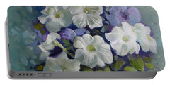 Petunias Symphony Portable Battery Charger by Elena Oleniuc
