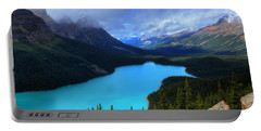 Peyto Lake Banff National Park Majestic Beauty Portable Battery Charger
