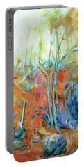 Portable Battery Charger featuring the painting Pfeil - Arrow by Koro Arandia