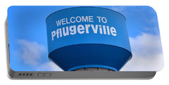Pflugerville Texas - Water Tower Portable Battery Charger