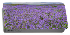 Phacelia Field And Clouds Portable Battery Charger