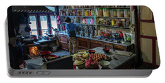 Portable Battery Charger featuring the photograph Phakding Teahouse Kitchen Morning by Mike Reid