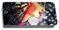 Portable Battery Charger featuring the digital art Pharoah Of Egypt by Pennie  McCracken