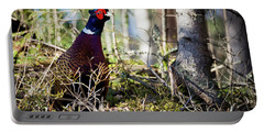 Pheasant In The Forest Portable Battery Charger