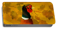 Pheasant In Yellow Portable Battery Charger