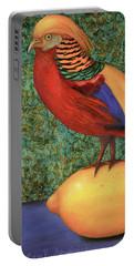 Pheasant On A Lemon Portable Battery Charger
