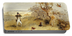 Pheasant Shooting Portable Battery Charger by Henry Thomas Alken