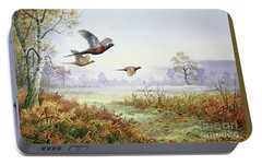 Pheasants In Flight  Portable Battery Charger by Carl Donner