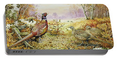 Pheasants In Woodland Portable Battery Charger