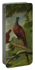 Portable Battery Charger featuring the painting Pheasants by John Frederick Herring