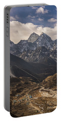 Portable Battery Charger featuring the photograph Pheriche In The Valley by Mike Reid