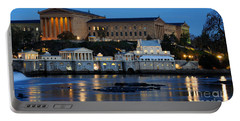 Philadelphia Art Museum And Fairmount Water Works Portable Battery Charger