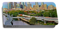 Philadelphia At Dusk Portable Battery Charger