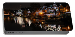 Philadelphia Boathouse Row At Night Portable Battery Charger