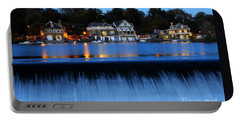 Philadelphia Boathouse Row At Twilight Portable Battery Charger
