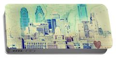 Philadelphia Cityscape Portable Battery Charger by Brandi Fitzgerald