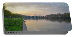 Portable Battery Charger featuring the photograph Philadelphia Cityscape From The Schuylkill In The Morning by Bill Cannon