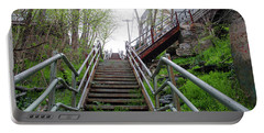 Portable Battery Charger featuring the photograph Philadelphia - Roxborough Avenue Steps by Bill Cannon